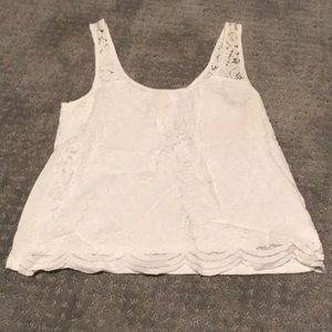 White lace tank top Hollister